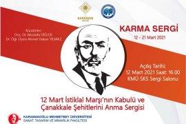 KMÜ'de 12 Mart Ve 18 Mart Konulu Karma Sergi