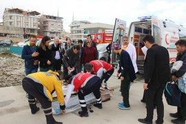 Nisa buradan da hava ambulansı ile Konya'ya sevk edildi.
