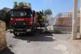 Karaman'da tarihi hamamda yangın