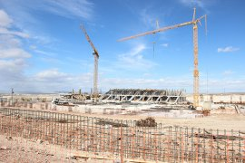 UEFA standartlarındaki yeni stadyumunda tribünler ortaya çıktı