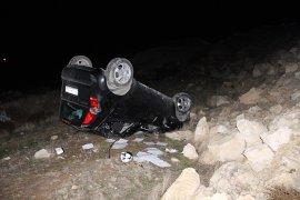 Otomobil şarampole takla attı: 1 yaralı
