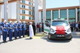 Kazada hayatını kaybeden yarbay için tören düzenlendi