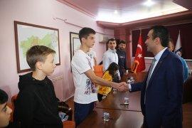 Genç Judoculardan Başkan Kalaycı'ya Teşekkür