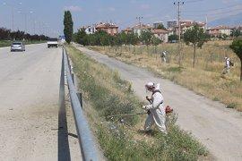 Boş Arsalar Ve Yol Kenarları Yabani Otlardan Temizleniyor