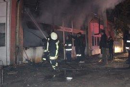 Hububat ve bakliyat dükkanında yangın çıktı