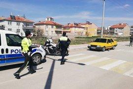Polis, kaçan sürücüyü ısrarlı takibi sonucu yakaladı