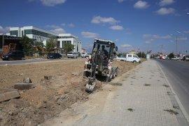 Karaman Belediyesi'nden 100. Yıl Bulvarı'na Yeşil Bant Uygulaması