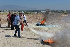 KMÜ Personeli Yangın Tatbikatına Katıldı