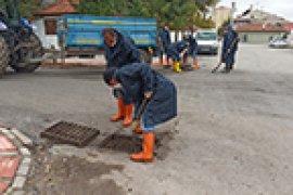 Belediyeden Yağışlara Karşı Kış Hazırlığı