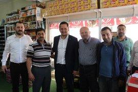 Selman Oğuzhan Eser Esnafları ziyaret etti