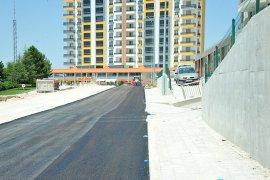 Elmaşehir Mahallesi'nde Yeni Açılan Yol Asfaltlandı