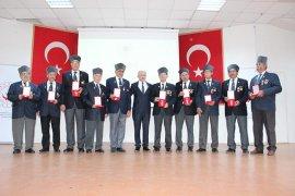 Karaman'da 57 Kıbrıs gazisine 'Milli Mücadele Madalyası' verildi