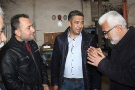 Belediye Başkan Adayı Şaban Şahin, Esnafın Dertlerini Dinledi