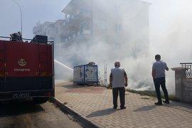 Boş Arsada Çıkan Ot Yangını İtfaiye Tarafından Söndürüldü