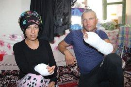 Hamile kadın ile kocasına silahlı ve sopalı saldırı