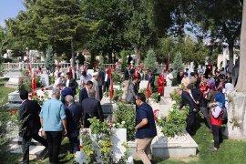15 Temmuz Şehidi  Muhammed Yalçın  mezarı başında  dualarla anıldı