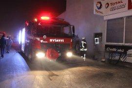 Oto Tamirhanesinde Yangın Çıktı