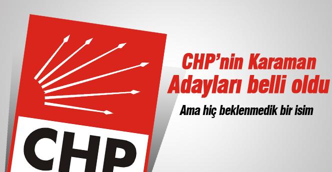 CHP Karaman adayları belli oldu