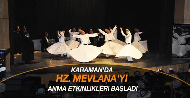 Karaman'da Hz. Mevlana'yı Anma Etkinlikleri Başladı