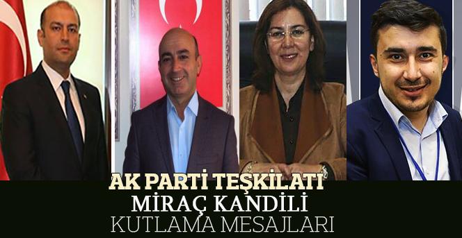 Karaman AK Parti Teşkilatı Miraç Kandili Kutlama Mesajı