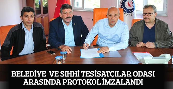 Belediye Ve Sıhhi Tesisatçılar Odası Arasında Protokol İmzalandı