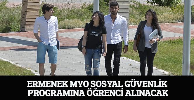 Ermenek Myo Sosyal Güvenlik Programına Öğrenci Alınacak