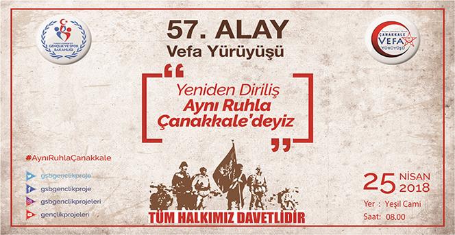 """Karaman'da """"57. Alaya Vefa Yürüyüşü"""" yapılacak"""