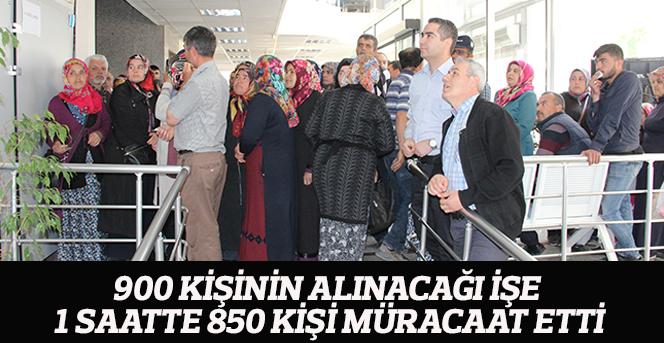 900 kişinin alınacağı işe 1 saatte 850 kişi müracaat etti