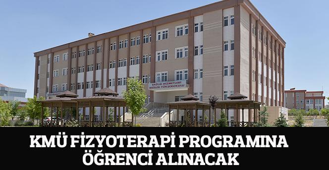 KMÜ Fizyoterapi Programına Öğrenci Alınacak