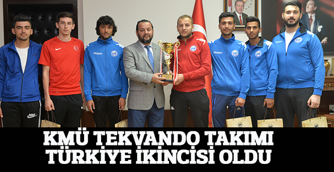 KMÜ Tekvando Takımı, Türkiye İkincisi Oldu