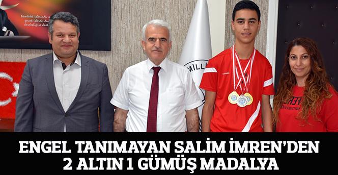 Engel Tanımayan Salim İmren'den 2 Altın 1 Gümüş Madalya