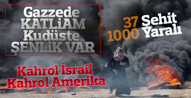 Gazze'de ABD büyükelçiliği ayaklanması