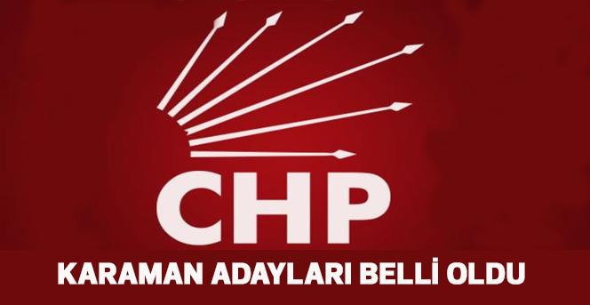 CHP Adayları Belli oldu