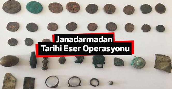 Jandarmadan Tarihi Eser Operasyonu
