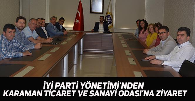 İyi Parti Yönetimi'nden  Karaman Ticaret Ve Sanayi Odası'na Ziyaret