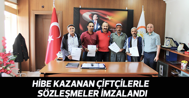 Hibe Kazanan Çiftçilerle  Sözleşmeler imzalandı