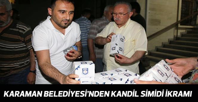 Karaman Belediyesi'nden Kandil Simidi İkramı