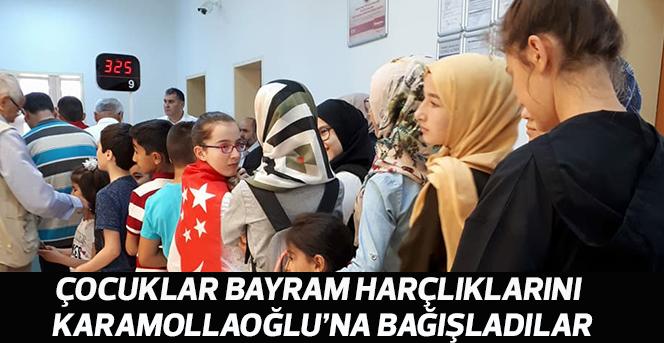 Saadet Partisi Karaman İl Teşkilatı, Karamollaoğlu'na bağış yaptı.