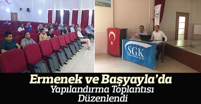 Karaman SGK  Ermenek ve Başyayla ilçelerinde Bilgilendirme Toplantısı Düzenlendi