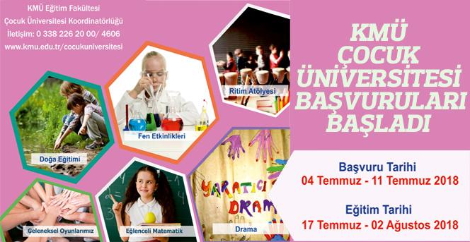 KMÜ Çocuk Üniversitesi Başvuruları Başladı