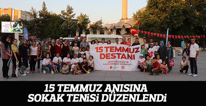 Karaman'da 15 Temmuz Anısına Sokak Tenisi