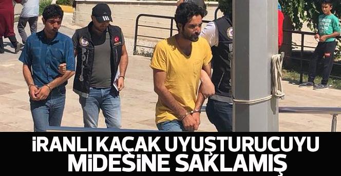 İranlı kaçak uyuşturucuyu midesine saklamış