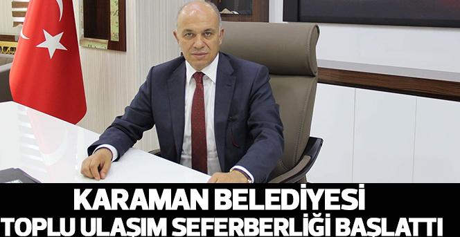 Karaman Belediyesi Toplu Ulaşım Seferberliği Başlattı