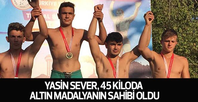 Yasin Sever, 45 Kiloda Altın Madalyanın Sahibi Oldu