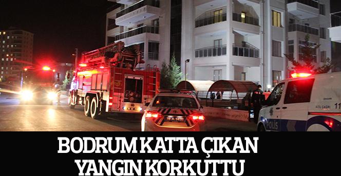 Bodrum katta çıkan yangın korkuttu