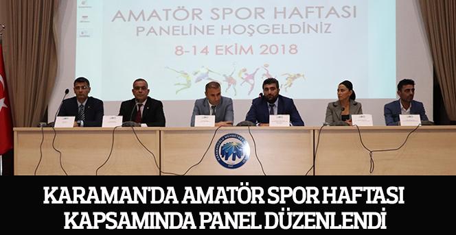 Karaman'da Amatör Spor Haftası Kapsamında Panel Düzenlendi