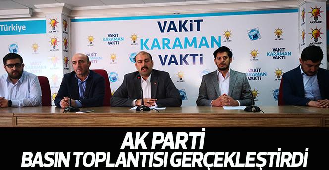 Ak Parti Basın Toplantısı Gerçekleştirdi
