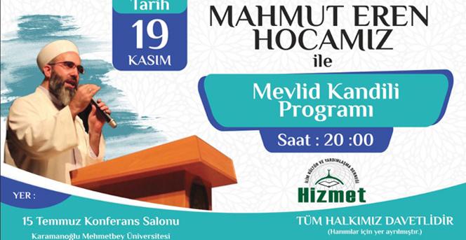 Mahmut Eren Hoca Karamana geliyor.