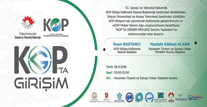 """KTSO'DA """"Kop'ta Girişim Projesi"""" Tanıtım Toplantısı Düzenlenecek"""