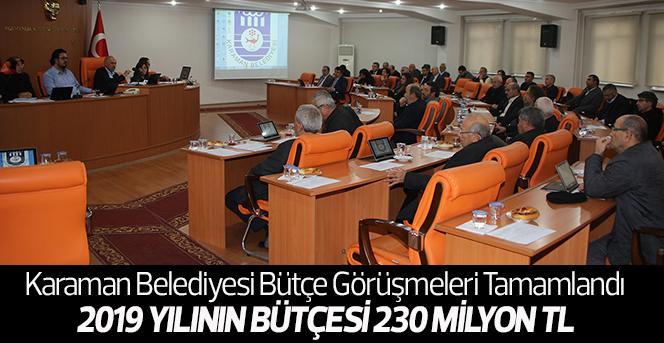 Karaman Belediyesi Bütçe Görüşmeleri Tamamlandı